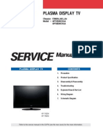 Samsung Plasma TV HPT4254