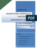 Tipos de Contrato, Definiciones Generales