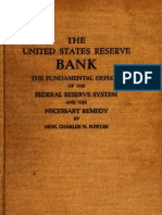 The Fundamental Defects of the Federal Reserve System Exposed and the Necessary Remedy (1922)