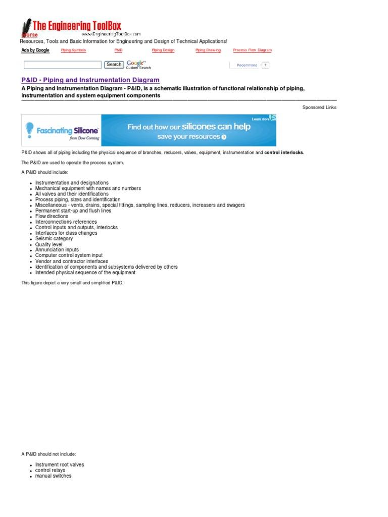 p id piping and instrumentation diagram instrumentation valve rh scribd com