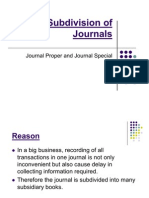 3. Subdivision of Journals