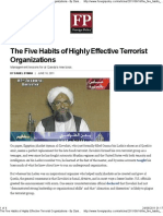 The Five Habits of Highly Effective Terrorist Organizations