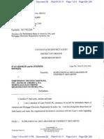 Hooker v Northwest Trustee DEFs Declaration 31 Jan 2011