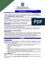 Conteudo Para as Provas - Objetos de Avaliacao Vestibular_2012_01