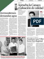 12-06-2011  Aprueba la Canaco evaluación de calidad El imparcial, Hermosillo, Sonora