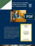 12-06-2011 Hoy más que nunca se necesitan economistas que cumplan a México- Leonardo Lomelí