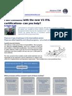 Advance ITSM - Help Explain the New Certifications
