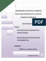 investigación descriptiva y explicativa