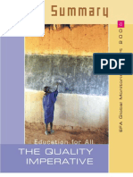 Education for All - The Quality Imperative (Summary)