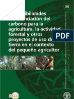 financiacion de carbono. pequeños productores. FAO