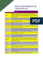 Diccionario de mecánica Industrial