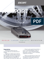 Escort Passport 8500 User Manual
