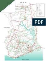 Ghana Map of Bridges
