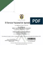 Certificado Sena Plan de Mercadeo