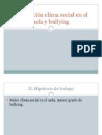 Correlación clima social en el aula y rendimiento