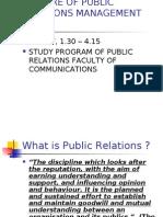 PUBLIC RELATIONS MANAGEMENT