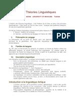 Histoire Des Theories Linguistiques