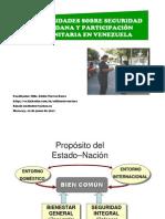 GENERALIDADES SOBRE SEGURIDAD CIUDADANA Y PARTICIPACIÓN COMUNITARIA EN VENEZUELA