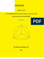 Automorphism Groups of Maps, Surfaces and Smarandache Geometries  (second edition), graduate text book in mathematics, by Linfan Mao