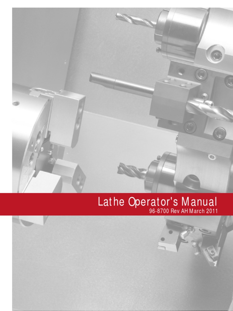 96-8700-Haas Lathe Operators Manual | Damages | Safety on