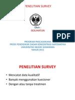 Penelitian Survey