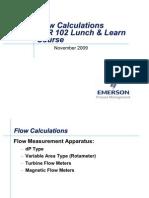 BLR102 Flow Calculations