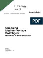 Choosing Medium Voltage Swgr
