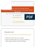 GMAT Verbal Free Class Online