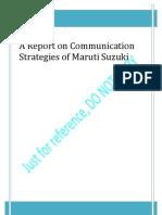 Maruti Branding and Pricing