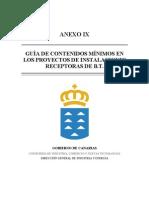 Guia de Contenidos Minimos en Los Proyectos de Instalaciones Receptor As de Baja Tension