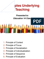 Principles Underlying Teaching