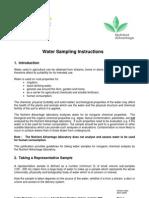 Water Sampling Gui Dev 2005