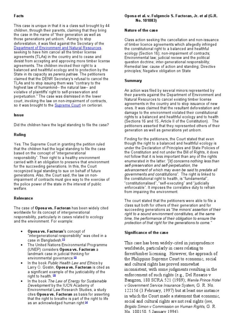oposa vs factoran case summary