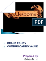 Brand Equity & Communicating Value