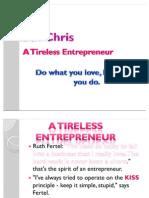 ruth chris--- a tireless enterpreneur