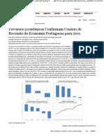 Previsões Económicas Confirmam Cenário de Recessão da Economia Portuguesa para 2011