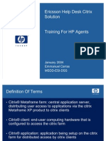 Ericsson OMC - Training for HP Agents_v1.0