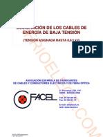 Designación de los cables de energía de tensión