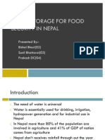 Water Storage for Food Security