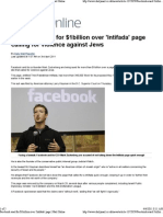Facebook Sued for $1billion Over ada Page