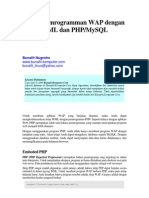 Pemrograman WAP Dengan PHP Dan MySQL