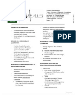 Microbiology Principles of Diagnostic Microbiology