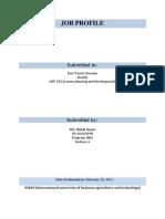 Final Job Profile