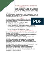 REQUISITOS PARA EXPORTAR PRODUCTOS PESQUEROS Y ACUÍCOLAS