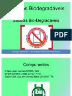 Sacolas Plásticas - Plástico biodegradável