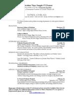Medical CV Sample Post Residency