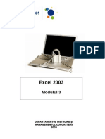 Excel 2003 - Modulul 3 August 2009