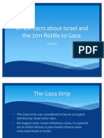 Facts about Israel and the 2011 flotilla to Gaza