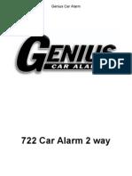 Alarma Genius Dig722 2vias Ing