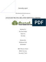 Internship Report on Ananash Travel